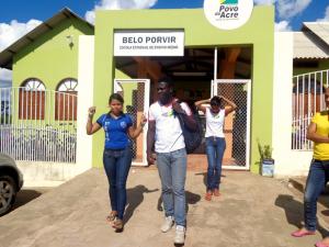 Escola Belo Porvir, em Epitaciolândia, foi selecionada em edital nacional (Foto: Jotinha Gouveia/Arquivo pessoal)