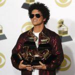 Bruno Mars leva seis estatuetas e é o grande vencedor do Grammy 2018