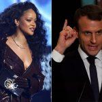 Presidente francês Macron e Rihanna juntam forças pela educação